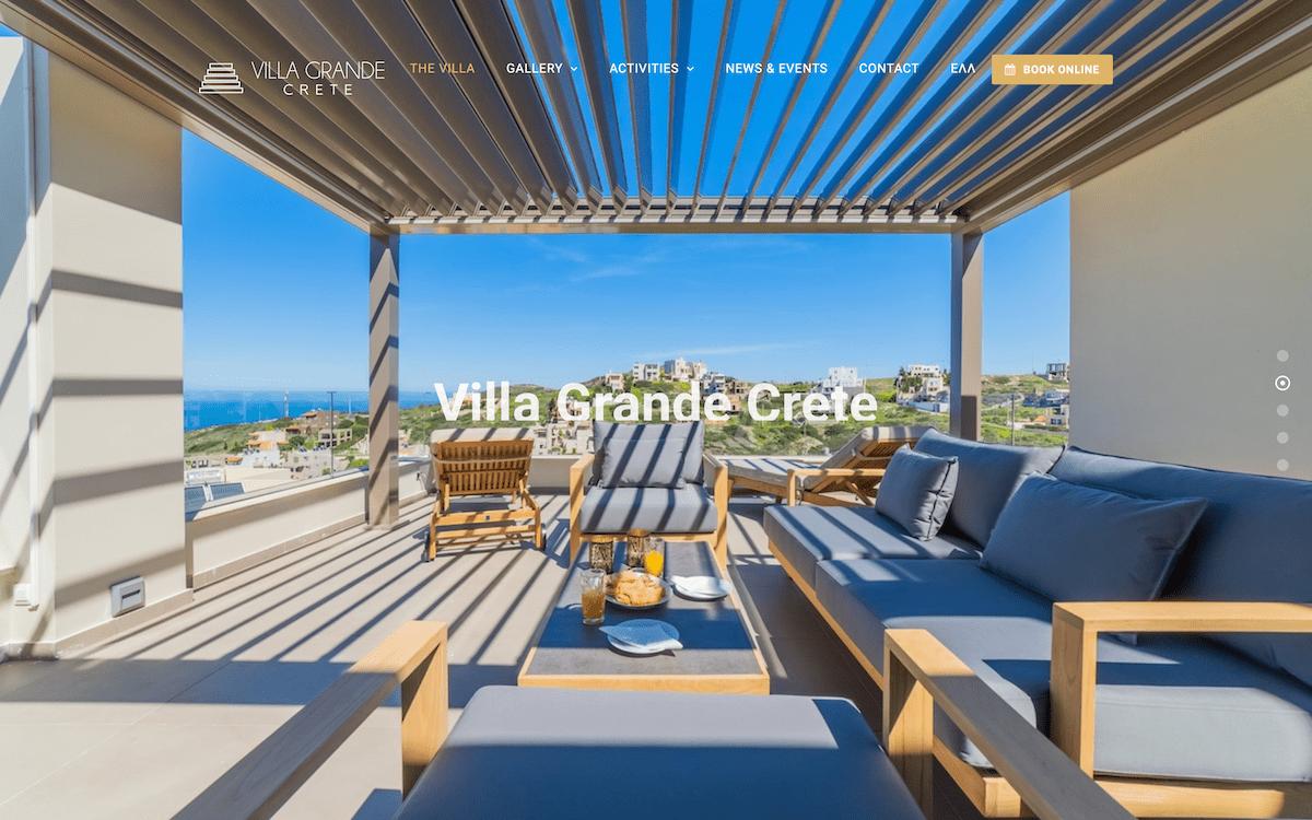 Villa Grande Crete | Website